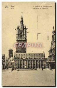 Postcard Old Gent Ghent The Belfry and the Cloth Hall
