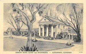 E9/ Alexandria Louisiana La Postcard Linen 1940s Edmary Hotel Court Apartments