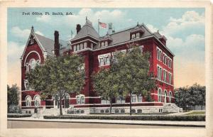 Fort Smith Arkansas~US Post Office~Men @ Stairway~1917 Kress & Co Postcard