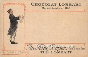 Advertising Postcard - Old Vintage Antique  Chocolat Lombart
