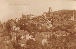 La Turbie France Grande Corniche Birds Eye View Real Photo Postcard J68427