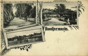 indonesia, BORNEO BANDJERMASIN, Chinese Camp, Residence Office (1899) Postcard