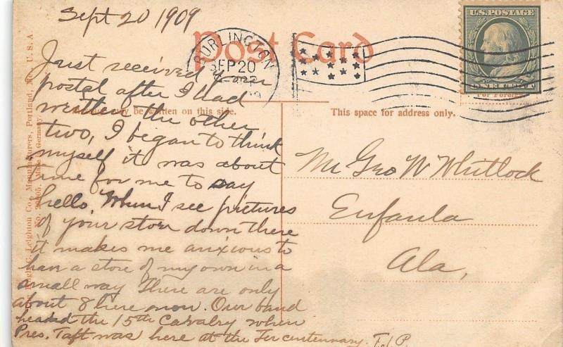 Burlington Vermont~Ethan Allen Stone Tower With Battlements~1909 Postcard