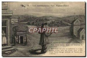 Old Postcard Fantasy hassle d & # 39un Morvandiau