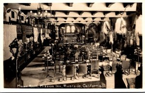 California Riverside Glenwood Mission Inn Music Room Real Photo