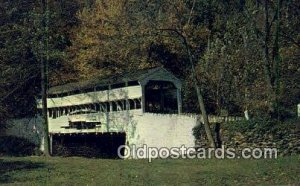 Knox, Valley Forge, PA USA Covered Bridge Unused