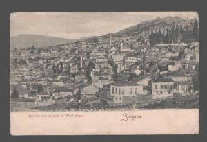 081325 TURKEY SMYRNE-IZMIR Quartier turc Mont Pagus Old PC