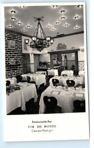 *Restaurante Fim Do Mundo Cascais Portugal Ferragudo Vintage Photo Postcard C85