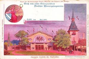Cassel Germany External view of the Festive halls 1899 Pioneer Postal Card