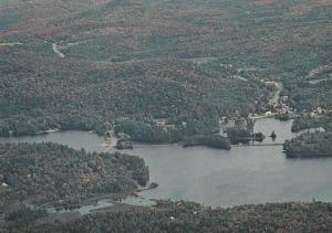 Village of Long Lake from the Air - Adirondacks, New York