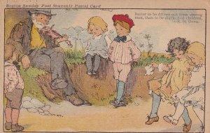 BOSTON, Massachusetts, 1901-1907s; Sunday Post Souvenir, Children & Violinist