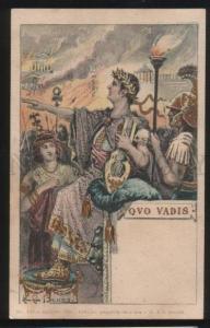 101709 QUO VADIS Neron Lyra ART NOUVEAU by BRUNO vintage RARE