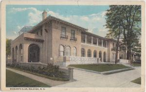 North Carolina NC Postcard 1936 RALEIGH Woman's Club