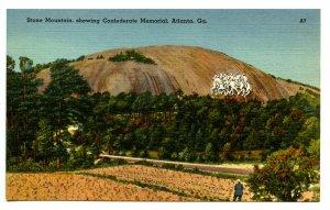 GA - Atlanta. Stone Mountain Confederate Memorial