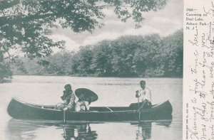 ASBURY PARK , New Jersey , PU-1905 ; Canoeing on Deal Lake