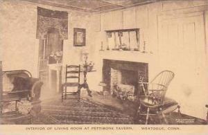 Connecticut Weatogue Pettibone Tavern Interior Of Living Room Albertype