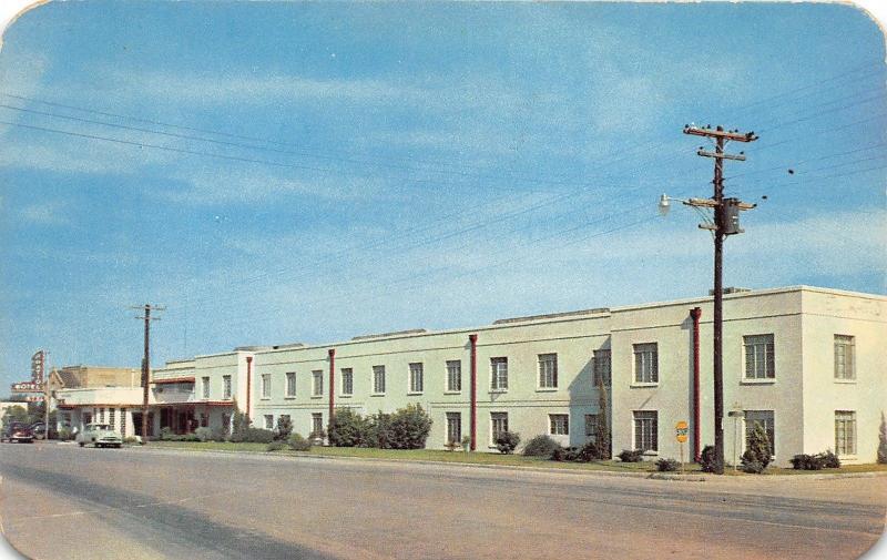 San Angelo Texas~El Patio Motel~Home Of KTXL Radio Station~1950s Postcard