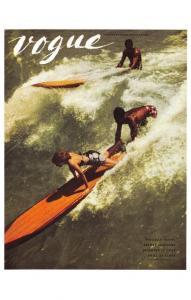 Postcard VOGUE Magazine Iconic Cover Art Holiday Travel Resort Fashion 15 Dec 38