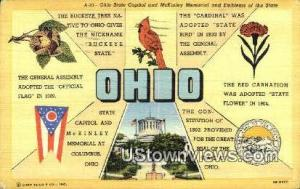 State Capitol Columbus OH 1945 Missing Stamp