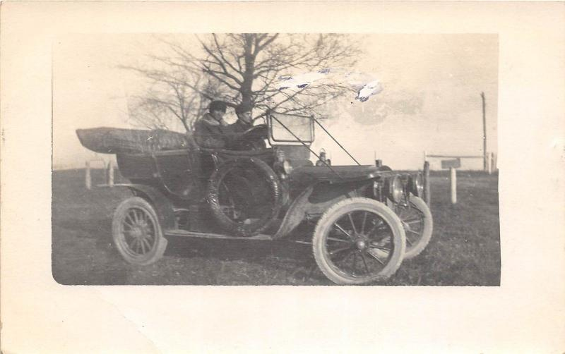 B79/ Automobile Real Photo RPPC Postcard c1910 Car Auto Machine 2