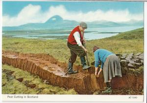 Social History; Peat Cutting In Scotland PPC, Unposted, By Charles Skilton