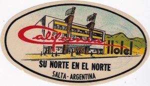 Argentina Salta California Hotel Vintage Luggage Label sk1292
