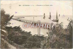 Old Postcard Croisic The Pier and Great Charter Jetee