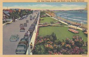 California Long Beach East Ocean Avenue and Beach Curteich