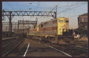 Erie Lackawanna GP-7 Train Stillwell Hoboken New Jersey 1403 Railroad Postcard