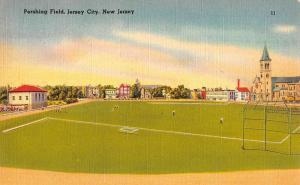 Jersey City New Jersey Pershing Field Baseball Antique Postcard K101956