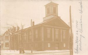 E93/ Wellsburg West Virginia RPPC Postcard c1910  Christian Church Building 3