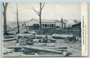 Postcard NC Washington North Carolina Country Saw Mill c1910 Ira Hardy AB3