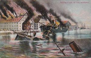 Sinking Ship Destruction Of The Merrimac