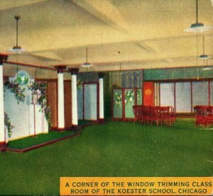 Koester School Window Trimming Class Chicago Illinois IL UNP 1910s Vtg Postcard