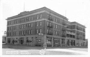 1930s Goldfield Nevada Hotel Street View Frasher Northern Casino RPPC Postcard