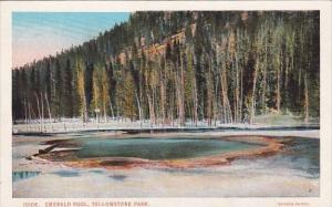 Emerald Pool Yellowstone Park Wyoming