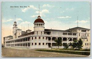 Zion City Illinois~Zion Home~Hospital? Hotel? 326 Rooms~1917 Postcard