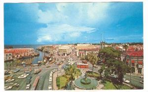 View of Trafalgar Square and Downtown of Bridgetown, Barbados, West indies, 4...