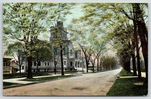 Toledo Ohio~Collingwood Avenue Presbyterian Church~~Homes~c1910 Postcard
