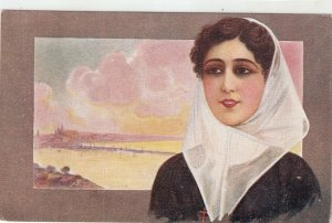 LChantecler. Lady from Baleares (Mallorquina) Nice vintage Spanish postcard