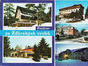 Czech Republic, ZDARSKE VRCHY, Hotel Marsovska rychta, 1977 used Postcard