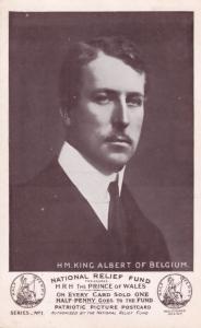 HM King Albert Belgium National Relief Fund c1910 Postcard