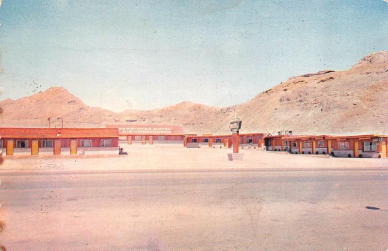 Ut Utah Wend Over Motel Great Salt Desert Roadside Postcard