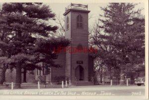 RPPC - THE LITTLE BROWN CHURCH IN THE VALE - NASHUA, IOWA