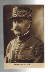 Mint WW 1 France Army General Marechal Foch Real Picture RPPC Postcard