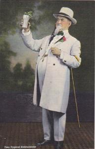 Kentucky Two Typical Kentuckians Kentucky Gentleman and Mint Julep Curteich