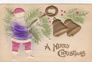 Christmas Santa Claus Purple Robe Ringing Bells 1909