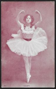 Ballerina 'Courti' in Costume Unused c1905