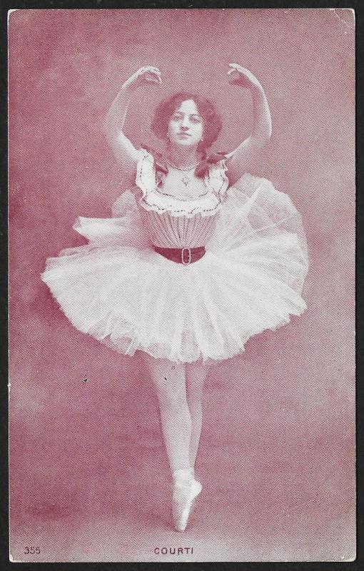 Ballerina 'Courti' in Costume Unused c1905