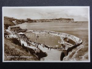 Yorkshire SCARBOROUGH Bathing Pool c1934 RP Postcard by Valentine's G920